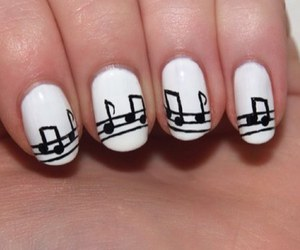 music, nails, and black image