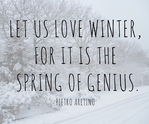 winter, love, and quote image