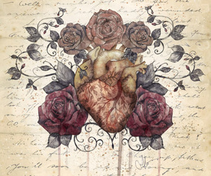 heart and roses image