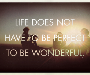 life, wonderful, and quote image