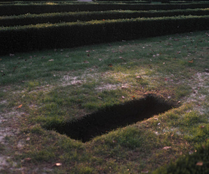 grave, hole, and grunge image