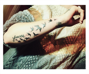 tattoo, faith, and demi lovato image