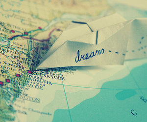 Dream, travel, and map image