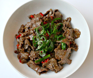 asian, beef, and chineese image