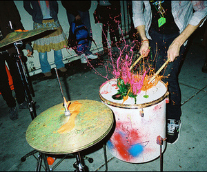 drums, paint, and music image