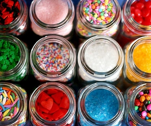 jar, candy, and sprinkles image