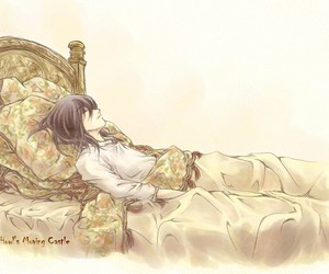 Howl, bed, and howl's moving castle image