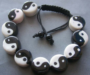 bracelet, fashion, and black image
