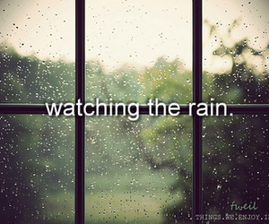 rain, text, and watching image