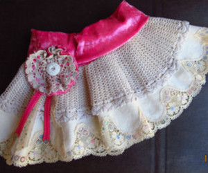 doiley, shabby chic, and doiley skirt image