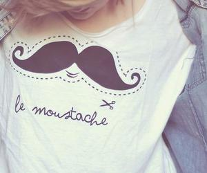 moustache, mustache, and shirt image