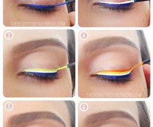 makeup, rainbow, and diy image