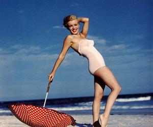 Marilyn Monroe and beach image