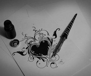 black, design, and deviantart image