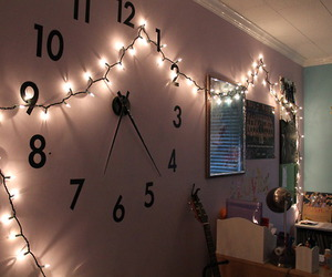 room, light, and clock image