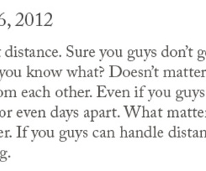 distance, forever, and quote image