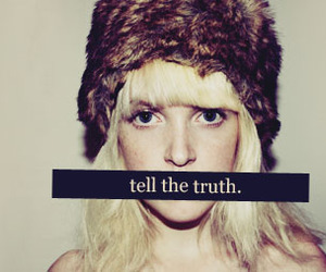 girl, truth, and tell image