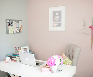 decor, macbook, and office image