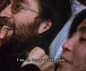 love, john lennon, and Yoko Ono image