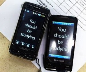 college, phone, and school image