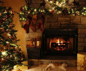calm, christmas, and garlands image
