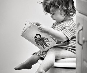 reading, toilet, and cute image