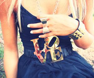 love, girl, and dress image