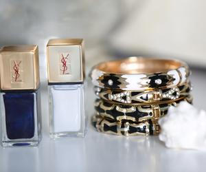 nails, bracelet, and YSL image