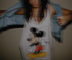 girl, mickey, and mickey mouse image