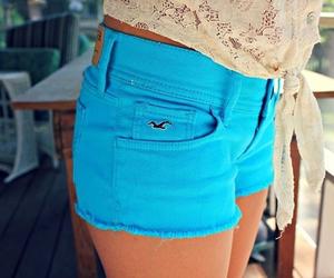 fashion, blue, and shorts image