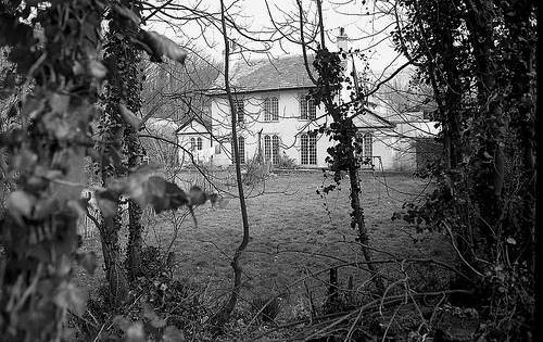 abandoned, asham house, and black and white image