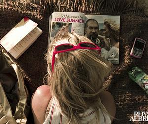 girl, summer, and magazine image