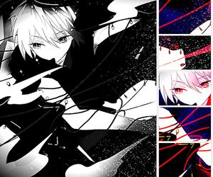 anime, jafar, and black and white image