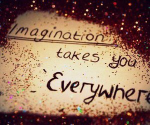 imagination, everywhere, and gold image
