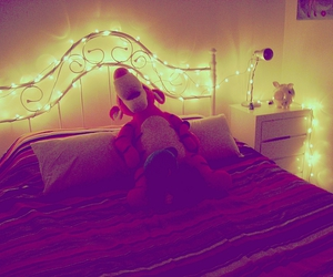 fairy lights, room, and cute image