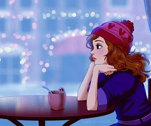 girl, alone, and winter image