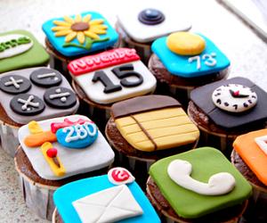 cupcake, iphone, and food image