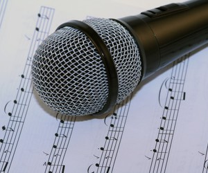 microphone, music, and notes image