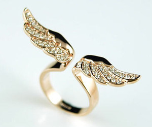ring, wings, and gold image