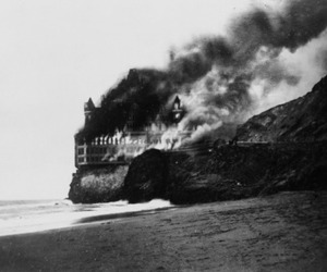 fire and black&white image
