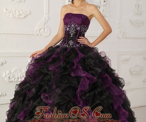 quinceanera dresses 2013, girl's sweet 15, and purple and black dress image