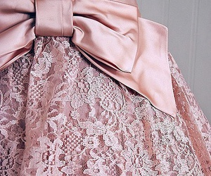 bow, pink, and lace image