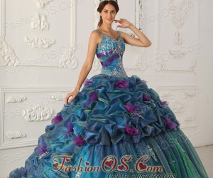 turquoise dress, quinceanera dresses 2013, and girl's sweet 15 image