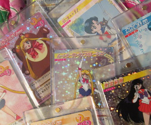 anime, cards, and sailor moon image