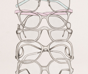 glasses, drawing, and illustration image