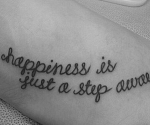 tattoo, happiness, and quote image