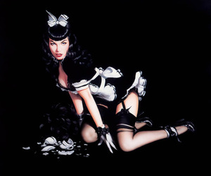 art, Bettie Page, and maid image