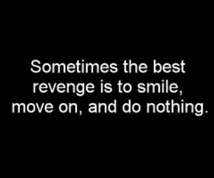 revenge, smile, and text image