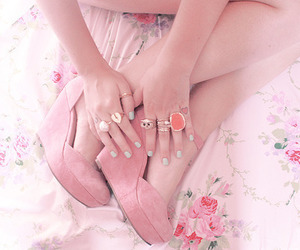 fashion, rings, and rose image