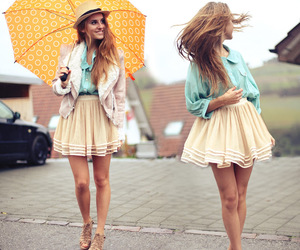 fashion, girl, and umbrella image